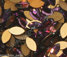 20 STRASS Cristal SWAROVSKI NAVETTE Amethyst bijou d'ongle 3mm x 6mm Nail Art
