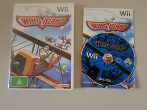 Nintendo-Wii-Wing-Island-Game-Complete-Disc-Manual