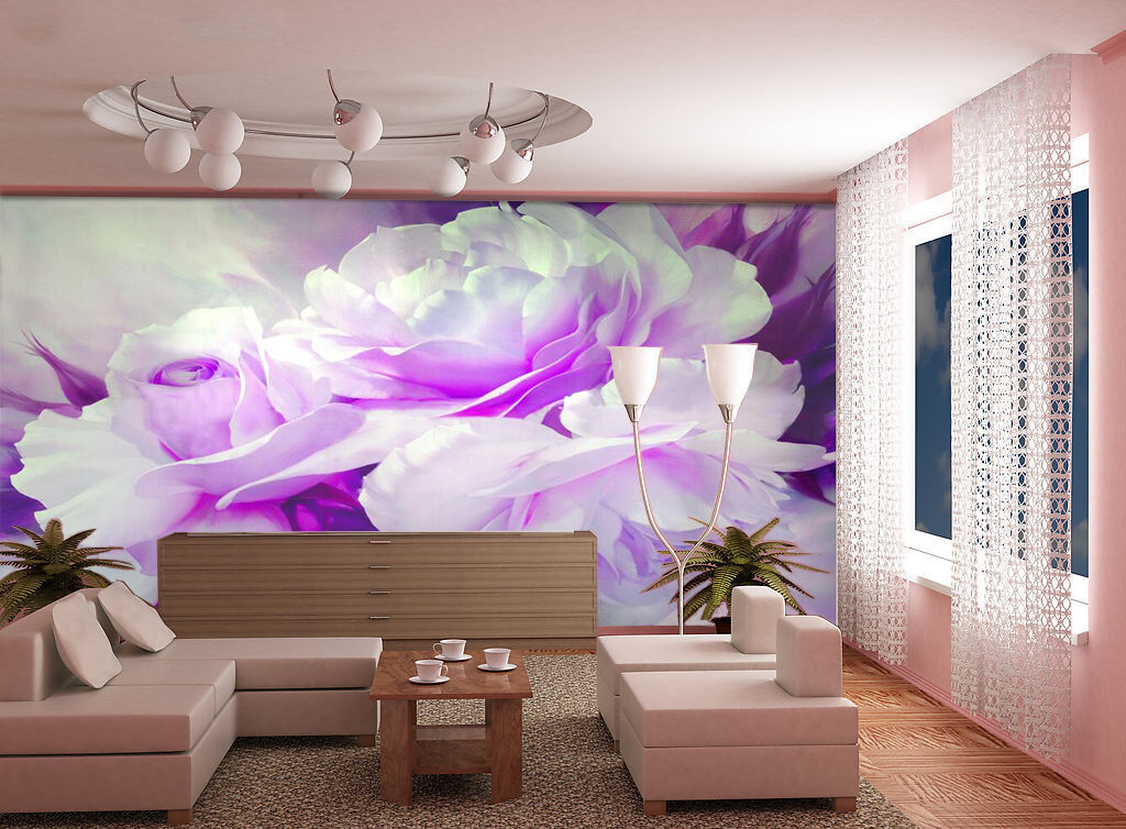 3D Pink flowers 213 Wall Paper Wall Print Decal Wall Deco Indoor Wall Murals