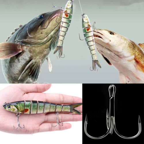 Flexible Soft Lure Wobblers Artificial Bait Fishing Lures Sea Bass Swimming 14cm