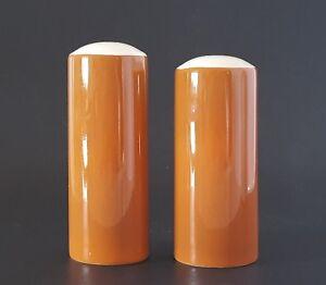 Tierra-Ironstone-Salt-and-Pepper-Shaker-Set-Harmony-House-Rust-Orange-Offset