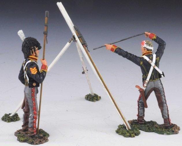 Thomas Gunn Napoleonisch Britisch NAP002B Rha Rakete Crew Verwundet Set 2 MIB