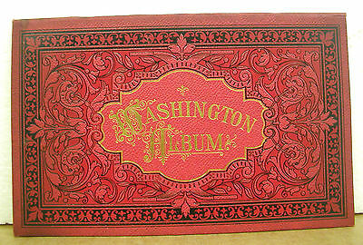 Washington Album Accordian Plates circa 1890s Hardcover