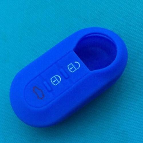 Silicone car key cover case for fiat 500 3 buttons flip remote key case SGUK RU