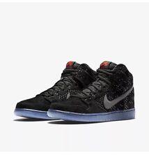 Nike SB Dunk High Prem Flash 806333-001 Black Ice Clear DS Sz 7