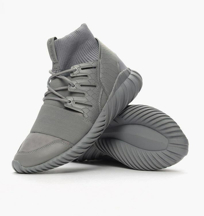 Adidas Tubular Doom  S74791 Mens Grey Silver Trainers UK 8 BRAND NEW