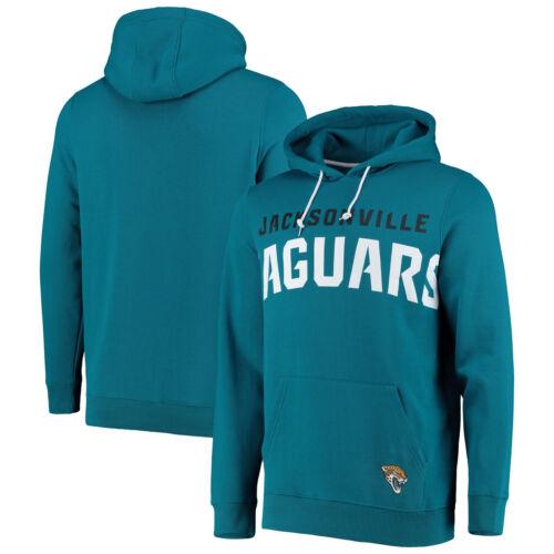 Teal Mens Jacksonville Jaguars Oversized Graphic Hoodie