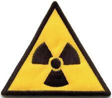 Radiation sign symbol danger warning embr. applique iron-on patch S-1321