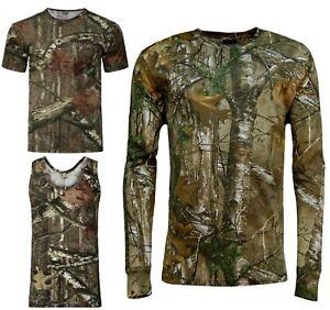 Men-039-s-Jungle-Camouflage-T-shirt-Realtree-Camo-Print-Long-Short-Sleeveless-Top