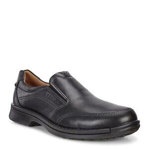 a7516038c789 ECCO Men s 500114 Fusion II Black Leather Slip On Casual Shoe  NEW ...