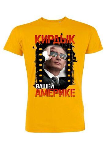 rs28 Herren T-Shirt Leads Putin vs USAKurzarm Krem lFreizeitshirt Aufdruck