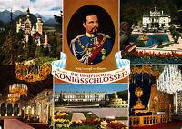 Die bayerischen Königsschlösser , ungel. Ansichtskarte