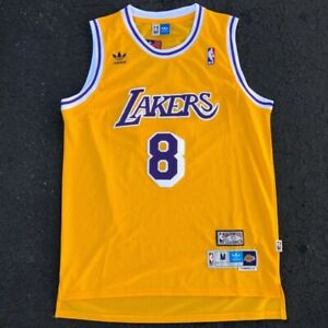 check out c0a42 44f9d Details about Kobe Bryant #8 Los Angeles Lakers Vintage Yellow Throwback  Basketball Jersey Men