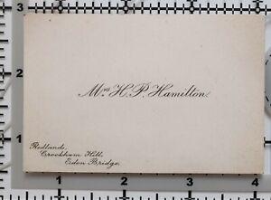 ANTIQUE-CALLING-CARD-MRS-H-P-HAMILTON-REDLANDS-CROCKHAM-HILL-EDEN-BRIDGE