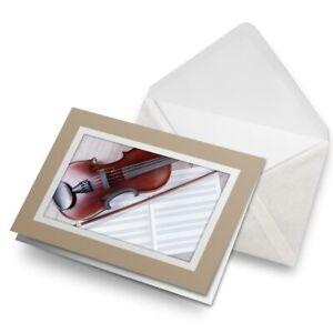 Greetings-Card-Biege-Classical-Violin-Music-Cool-2646