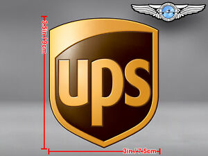 UPS UNITED PARCEL SERVICE CUT TO SHAPE SHIELD LOGO DECAL / STICKER