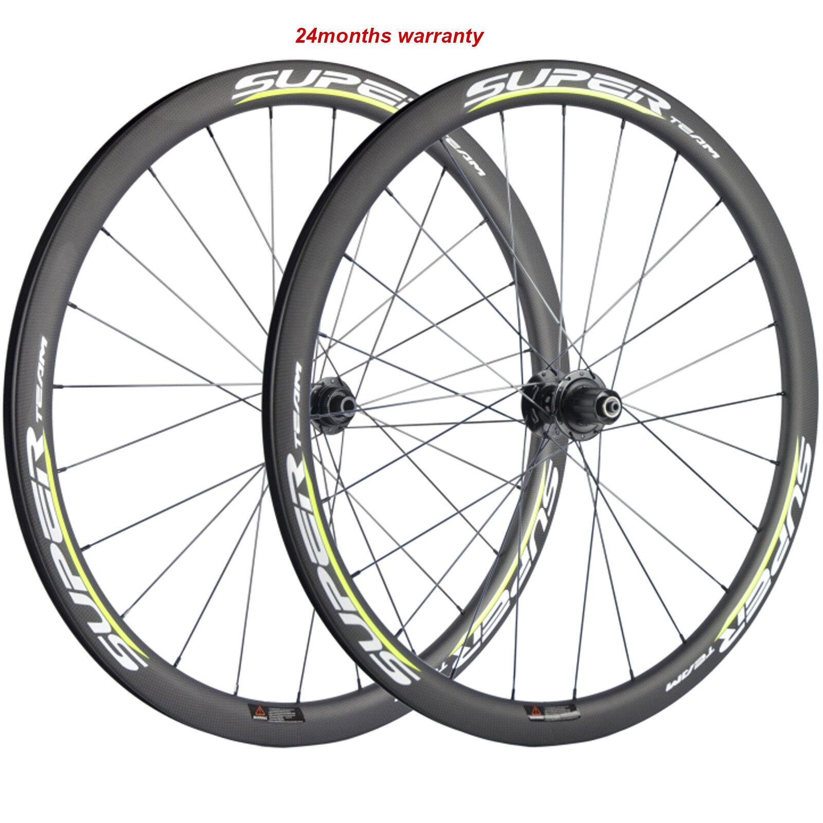 Superteam 40mm Carbon Wheelset Road Bike  Disc Brake Wheels CX3 Dics Road Hub  presenting all the latest high street fashion