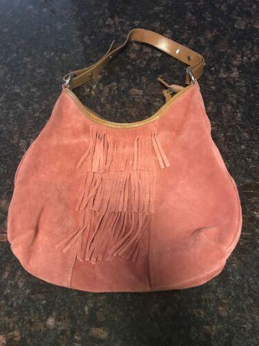 la redoute Suede Handbag
