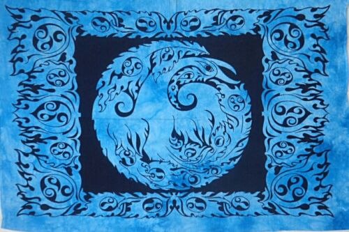 POSTER Indian Mandala Tapestries Hippie Wall Hanging Blue Bohemian Dorm Decorate