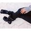 Cape Robbin UNTAMED Wine Faux Fur Wraparound Strap Lug Sole Mid Calf Snow Boot