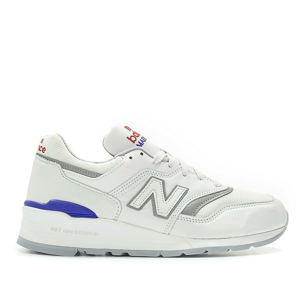 NEW BALANCE M997CHP  BASEBALL PACK  WHITE blueE SIZE 6 MADE IN USA MSRP  219.99