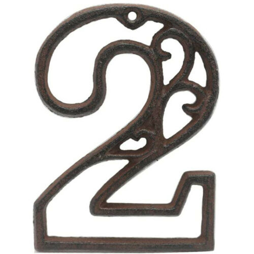 Wall Decor Door Number Iron Cast Numbers House Address Wrought Iron Numerals