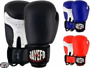 JAYEFO-LEATHER-BOXING-GLOVES-MMA-MUAY-THAI-GLOVES-KICK-SPARRING-TRAINING-BAG-16