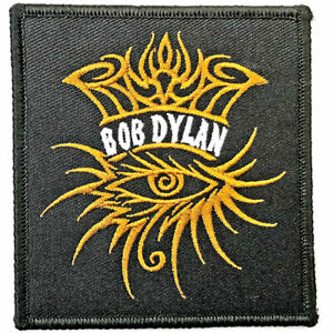 BOB DYLAN EYE ICON OFFICIAL LICENSED IRON ON PATCH FOLK ROCK BAND BADGE NEW