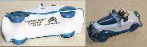 Citroen Traction Avant Cabriolet Gris Bleu 1939 2 Personnages Feve Porcelaine 3d Koglqw0b-07213902-924317277