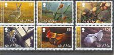 Isle of Man-Wildlife set of 6 mnh-Barn Owl,Hedgehog,Hare/Farm animals