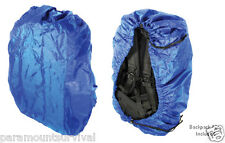Blue Waterproof Backpack Cover Dust Rain Hiking Camping Rucksack Bug-Out-Bag