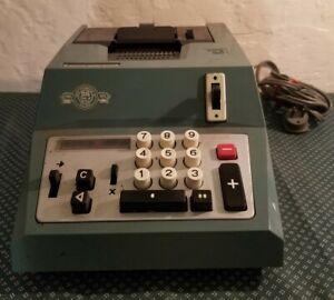 Vintage Underwood Olivetti Adding Machine Manual Calculator Prima 20 Argentina