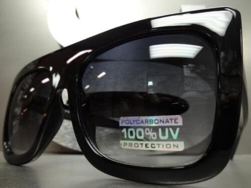 OVERSIZED EXAGGERATED VINTAGE Designer RETRO Style SUN GLASSES Large Black Frame