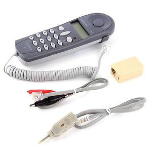 Telephone Phone Butt Test Tester Lineman Tool Cable Set Professional DevihtWU - France - État : Neuf: Objet neuf et intact, n'ayant jamais servi, non ouvert, vendu dans son emballage d'origine (lorsqu'il y en a un). L'emballage doit tre le mme que celui de l'objet vendu en magasin, sauf si l'objet a été emballé par le fabricant d - France