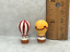 Tiny HOT AIR BALLOONS Airship Ballooning 2pcs Porcelain Dollhouse Miniatures