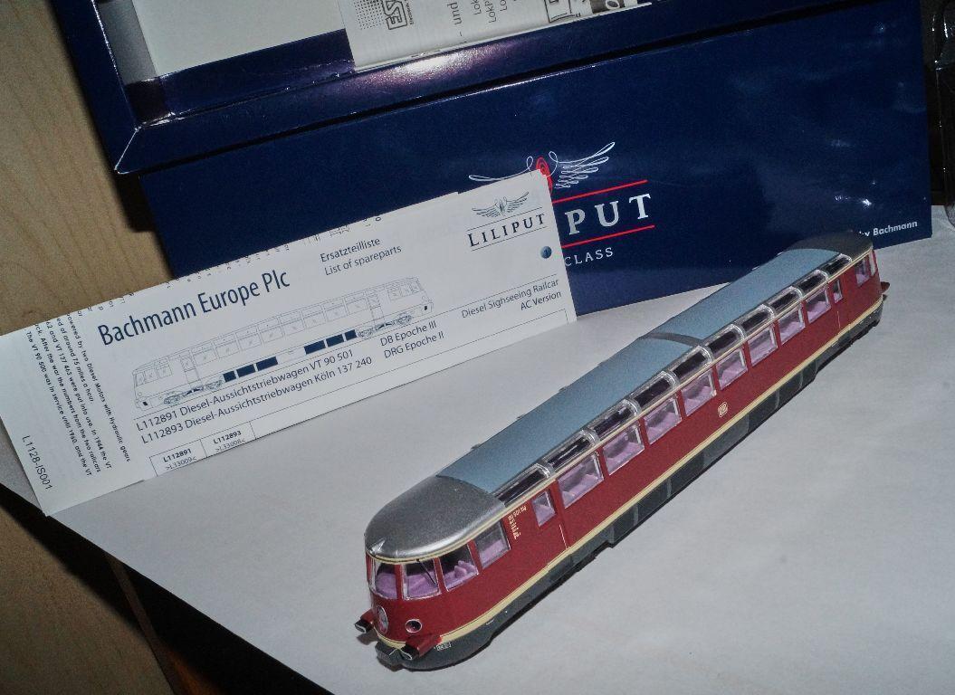 Bachmann Liliput l112891-h0 dieseltriebwagen VT 90 501 501 501 DB nuevo + embalaje orig. digital bfa214