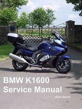 BMW K1600GT K1600GTL K 1600 gtle K1600 2011 en Servicio Owners Manual de taller