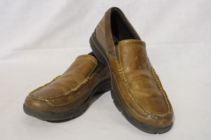 ROCKPORT XCS Men's Shoes Brown Leather Loafers/Casual Shoes/Slip On Shoes Men's Mens10M B24 e62690