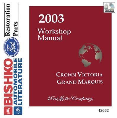 2003 Ford Crown Victoria Mercury Grand Marquis Shop Service Repair Manual Cd Ebay