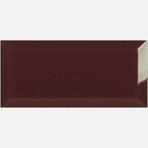 20x10cm Retro Gloss Bevelled Edge Tiles Various Colours
