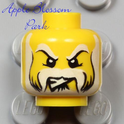 Neu Lego Schloss Minifig Kopf Königreiche King Knight W / Pirat Weiß Bart