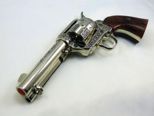 """Deluxe  Polished Engraved Pistolero M1873 /""""Fast Draw/"""" Revolver Replica Gun"""