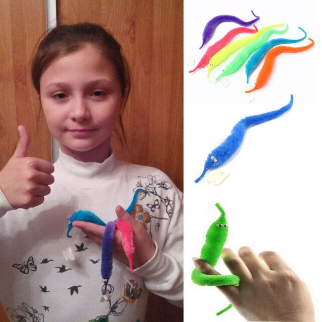 20 x Magician Fuzzy Worm Street Magic Trick Twisty Plush Wiggle Kids Soft Toy