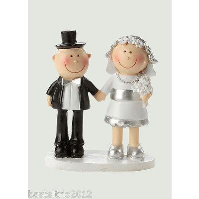 Silberpaar Tortenaufsatz Hochzeit Silberhochzeit Hochzeit Jubiläumsfigur 8,5 cm