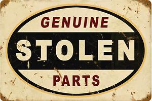 Genuino-Stolen-Piezas-Oxidado-Retro-Mira-Acero-Signo-450mm-X-300mm-Pst