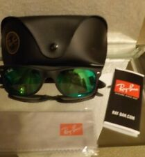 708af3b7cc item 4 Ray Ban Wayfarer Matte Black w  Green Mirror Flash Lenses Brand New  w  Tags -Ray Ban Wayfarer Matte Black w  Green Mirror Flash Lenses Brand New  w  ...