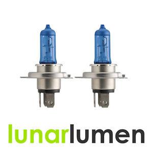 2 x Lunar Lumen H4 12V 55W / 100W ~5000K Super White Halogen Headlight Bulbs 472