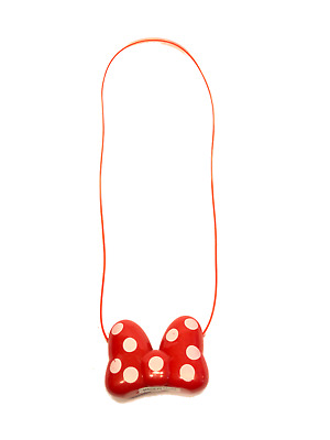 Minnie Mouse LED Light Up Red Bow Necklace Flashing ...