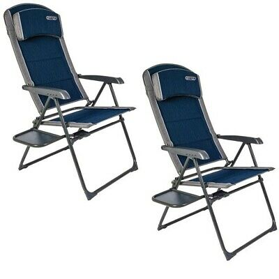 2 x Quest Ragley Pro Recline Chair (2020) Blue Reclinable Camping Chair | eBay
