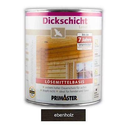 Primaster Dickschichtlasur - ebenholz, 2,5 l, lösemittelhaltig